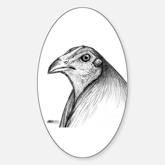 Gamecock Head Detail Oval Decal