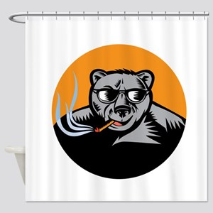 Grizzly Tobacco Shower Curtains - CafePress