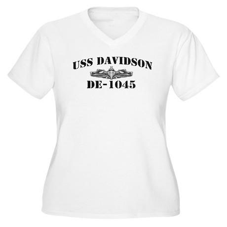 USS DAVIDSON Women's Plus Size V-Neck T-Shirt