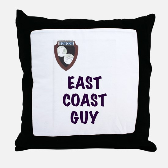 Funny East coast Throw Pillow