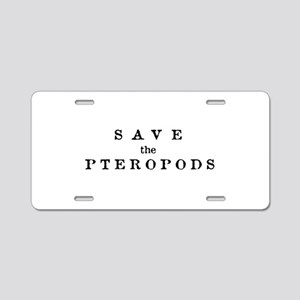 Save the Pteropods Aluminum License Plate