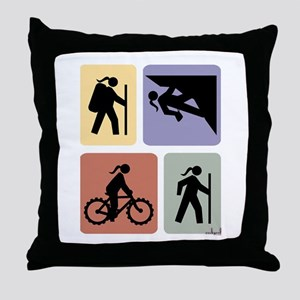 Multi Sport Gal Throw Pillow