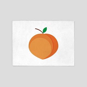 Peach Fruit 5'x7'Area Rug