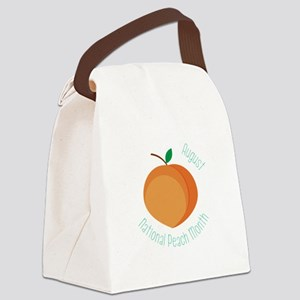 National Peach Month Canvas Lunch Bag
