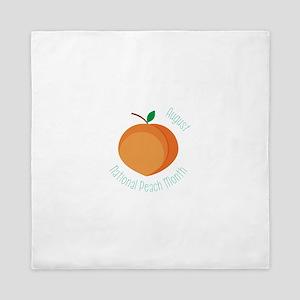 National Peach Month Queen Duvet