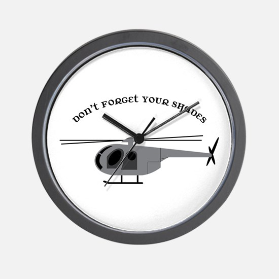 Dont Forget your Shades Wall Clock