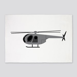 Helicopter 5'x7'Area Rug