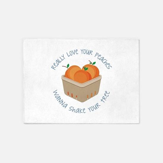 Love Peaches 5'x7'Area Rug