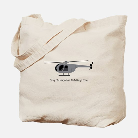 Grey Helicopter Tote Bag
