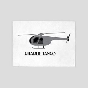Charlie Tango Chopper 5'x7'Area Rug