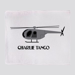 Charlie Tango Chopper Throw Blanket