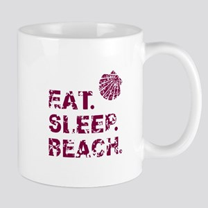 EAT. SLEEP. BEACH. Mugs