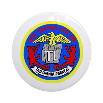 USS Telfair (APA 210) Ornament (Round)