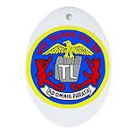 USS Telfair (APA 210) Oval Ornament