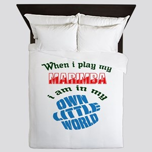 When i play my Marimba I'm in my own l Queen Duvet
