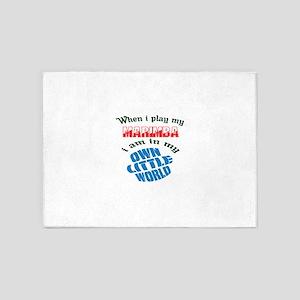 When i play my Marimba I'm in my ow 5'x7'Area Rug