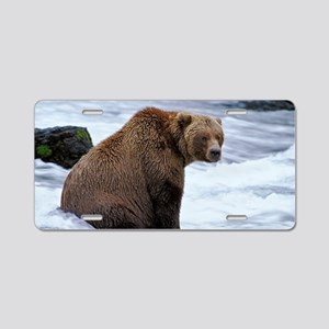 Big Grizzly Aluminum License Plate