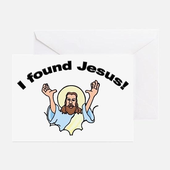 I Found Jesus! Greeting Cards (Pk of 10)