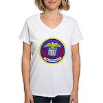 USS Telfair (APA 210) Women's V-Neck T-Shirt