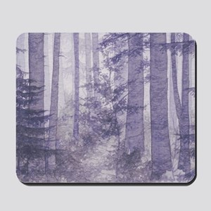 Purple Misty Forest Mousepad
