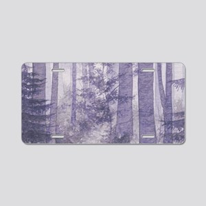 Purple Misty Forest Aluminum License Plate
