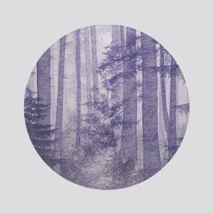 Purple Misty Forest Round Ornament