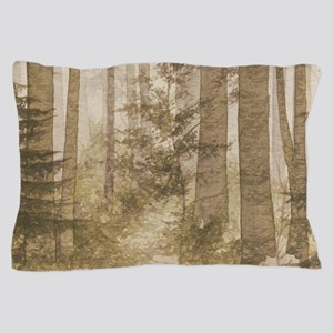 Brown Misty Forest Pillow Case