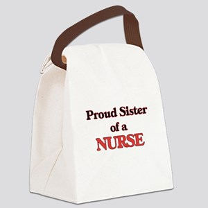 Proud Sister of a Nurse Canvas Lunch Bag