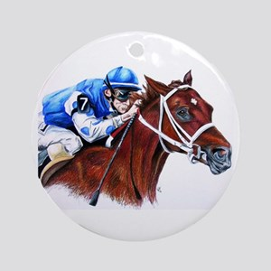 Smarty Jones Round Ornament