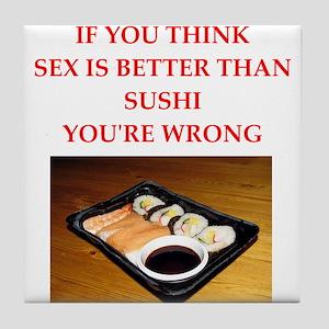 Sushi jokes coasters cafepress a funny food joke tile coaster forumfinder Gallery