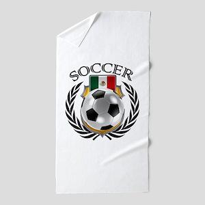 Mexico Soccer Fan Beach Towel
