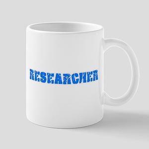 Researcher Blue Bold Design Mugs