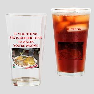 tamales Drinking Glass
