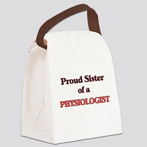 Proud Sister of a Physiologist Canvas Lunch Bag