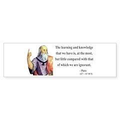 Plato 14 Bumper Bumper Sticker