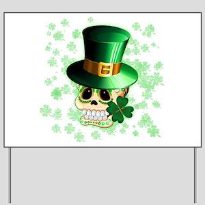 St Patrick Skull Cartoon Yard Sign
