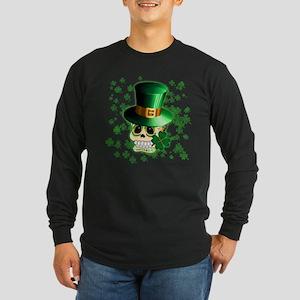 St Patrick Skull Cartoon Long Sleeve T-Shirt
