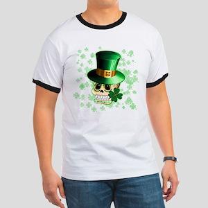 St Patrick Skull Cartoon T-Shirt