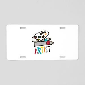 Artist Paints Aluminum License Plate