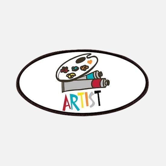 Artist Paints Patch
