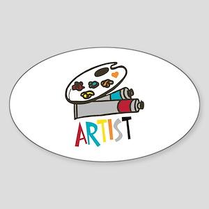 Artist Paints Sticker
