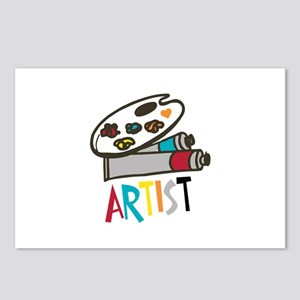 Artist Paints Postcards (Package of 8)