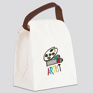 Artist Paints Canvas Lunch Bag