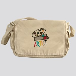 Artist Paints Messenger Bag