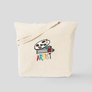 Artist Paints Tote Bag