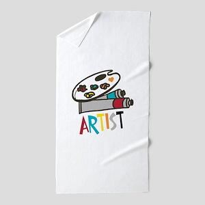 Artist Paints Beach Towel