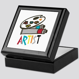 Artist Paints Keepsake Box