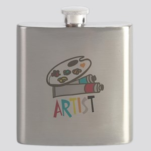 Artist Paints Flask