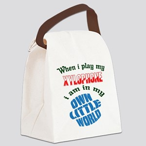 When i play my Xylophone I'm in m Canvas Lunch Bag