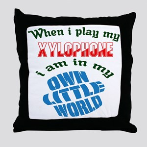 When i play my Xylophone I'm in my ow Throw Pillow